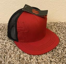 UFC Mens Mesh Snapback Trucker Hat Cap Red Black Embroidered