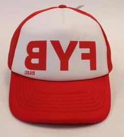 "Beechfield Unisex Bad Boy Running ""FYB"" Trucker Hat MC7 Red/"