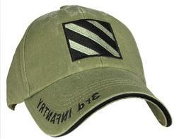 US ARMY 3RD INFANTRY - U.S. Army OD Green Military Baseball