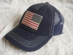 Polo Ralph Lauren USA Flag Trucker Hat Navy Denim NWT