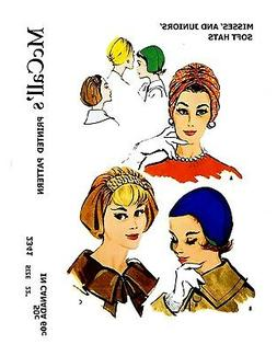 McCall's Women's Soft Hats Turban Fabric material sew patter