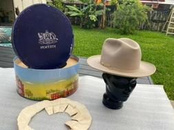 Vintage NEW Royal Stetson 1940s Open Road Beaver Taupe 7-1/8