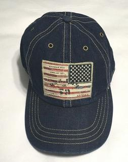 POLO RALPH LAUREN Vintage USA Flag Denim Indigo Baseball Cap