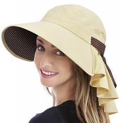 Wide Brim Sun Hats for Women UV Protection Cap Beach Fishing