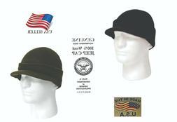 Winter Knit Jeep Cap 100% Wool GI Genuine Military Made in U