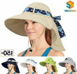 Women Foldable Wide Brim Hat UV Protection Summer Travel Bea
