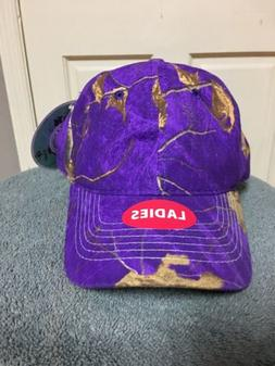 Women Hats Hunting Accessories Purple And Brown Adjustable