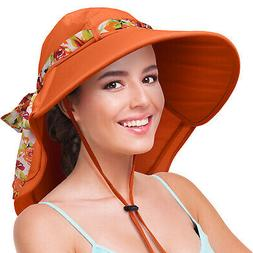 Sun Hats for Women UV Protection Large Wide Brim Cap Summer