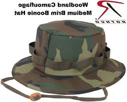 Woodland Camouflage Military Style Boonie Hat Bucket Hat Jun