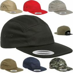 YuPoong Classic 7005 Plain 5 Panel Strapback Hats Jockey Cam